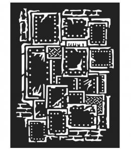 "Трафарет объемный ""Steampunk"", толщина 0,25 мм, 15х20 см, Stamperia KSAT03"
