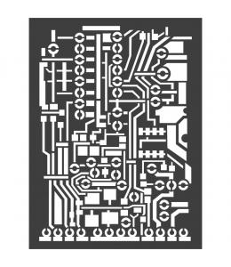 """Трафарет объемный """"Печатная плата"""", толщина 0,25 мм, 15х20 см, Stamperia KSAT06"""