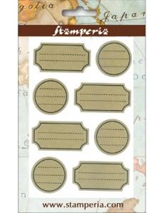 Набор клеевых декоративных элементов, 8 шт., Stamteria (Италия)