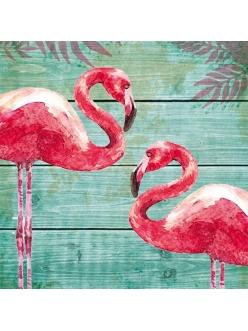 Салфетка для декупажа Фламинго, 33х33 см, Германия