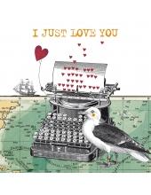 """Салфетка для декупажа """"Просто люблю тебя"""", 33х33 см, Германия"""