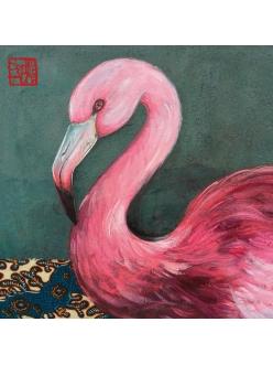 Салфетка для декупажа Розовый фламинго, 33х33 см, Германия