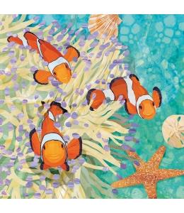 """Салфетка для декупажа """"Рыбки в кораллах"""", 33х33 см, Германия"""