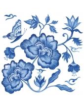 """Салфетка для декупажа """"Синий пион"""", 33х33 см, Германия"""