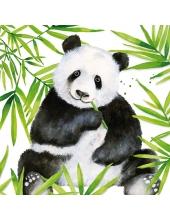 """Салфетка для декупажа """"Панда в тропиках"""", 33х33 см, Германия"""