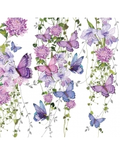 """Салфетка для декупажа """"Бабочки и лианы"""", 33х33 см, Германия"""