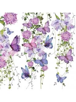 Салфетка для декупажа Бабочки и лианы, 33х33 см, Германия