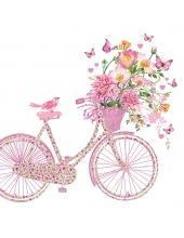 """Салфетка для декупажа """"Счастливый велосипед"""", 33х33 см, Германия"""