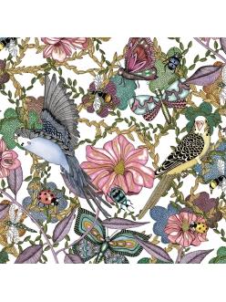 Салфетка для декупажа Птицы и цветы, 33х33 см, Германия