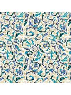 Салфетка для декупажа Фиорентина синяя, 33х33 см, Германия