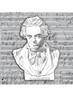 Салфетка для декупажа Бетховен, 33х33 см, Германия