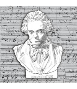 "Салфетка для декупажа ""Бетховен"", 33х33 см, Германия"