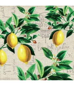 """Салфетка для декупажа """"Лимоны Капри"""", 33х33 см, Германия"""