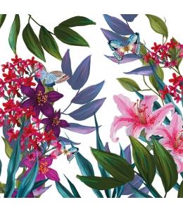"""Салфетка для декупажа """"Тропические цветы"""", 33х33 см, Германия"""