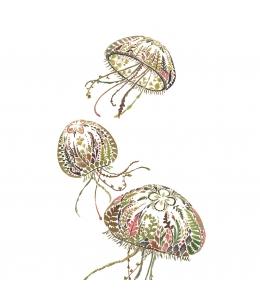 """Салфетка для декупажа """"Медузы"""", 33х33 см, Германия"""