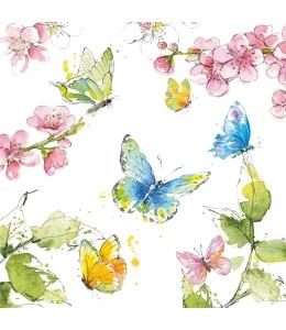 "Салфетка для декупажа ""Летние бабочки"", 33х33 см, Германия"