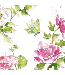 "Салфетка для декупажа ""Летняя роза"", 33х33 см, Германия"