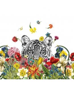 "Салфетка для декупажа ""Счастливый тигр"", 33х33 см, Германия"