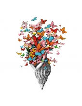 "Салфетка для декупажа ""Раковина с бабочками"", 33х33 см, Германия"