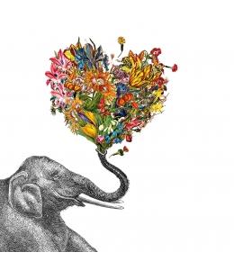 """Салфетка для декупажа """"Счастливый слон"""", 33х33 см, Германия"""