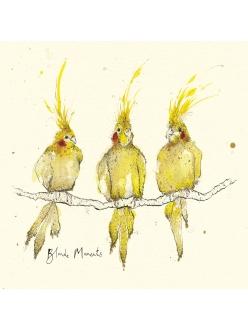 Салфетка для декупажа Три попугая, Anna Wright, 33х33 см, Германия