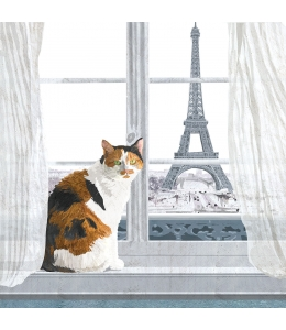 "Салфетка для декупажа ""Мадлен в Париже"", 33х33 см, Германия"