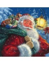 """Салфетка для декупажа """"Санта Клаус с мешком подарков"""", 33х33 см, Германия"""
