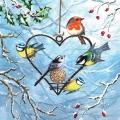 """Салфетка для декупажа """"Зимние птицы"""", 33х33 см, Германия"""