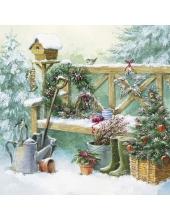 """Салфетка для декупажа """"Зимнее садоводство"""", 33х33 см, Германия"""
