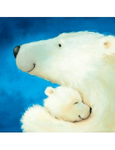 "Салфетка для декупажа ""Белая медведица с медвежонком"", 33х33 см, Германия"