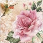 "Салфетка для декупажа ""Роза и колибри"", 33х33 см, Германия"