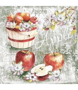 """Салфетка для декупажа """"Яблоки в ведре"""", 33х33 см, Германия"""