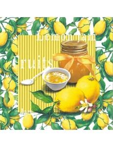 """Салфетка для декупажа """"Джем из лимонов"""", 33х33 см, Германия"""