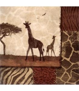"""Салфетка для декупажа """"Жирафы"""", 33х33 см, Германия"""