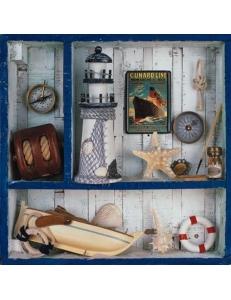 "Салфетка для декупажа ""Путешествие на море"", 33х33 см, Германия"