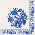 """Салфетка для декупажа """"Синий цветочный орнамент"""", 33х33 см, Германия"""