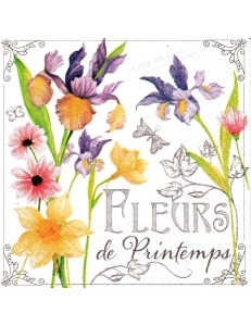 """Салфетка для декупажа """"Весенние цветы"""", 33х33 см, Германия"""