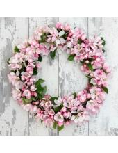 """Салфетка для декупажа """"Венок из цветов яблони"""", 33х33 см, Германия"""