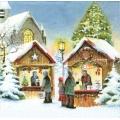 """Салфетка для декупажа """"Магазин рождественских подарков"""", 33х33 см, Германия"""