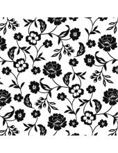 """Салфетка для декупажа """"Черно-белые цветы"""", 33х33 см, Германия"""
