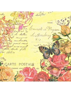 """Салфетка для декупажа """"Винтажные бабочки"""", 33х33 см, Германия"""
