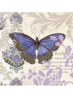 Салфетка для декупажа Винтажная бабочка, 33х33 см, Германия