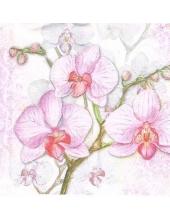 "Салфетка для декупажа HF12207700 ""Орхидеи"", 22х22 см, Голландия"