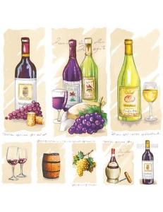 """Салфетка для декупажа HF13306710 """"Старое вино"""", 33х33 см, Голландия"""