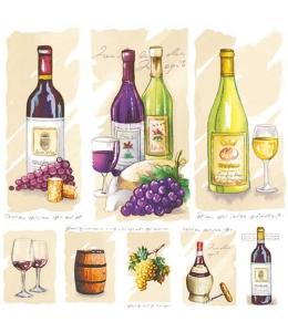 """Салфетка для декупажа """"Старое вино"""", 33х33 см, Голландия"""