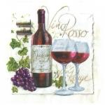 "Салфетка для декупажа HF13306995 ""Красное вино"", 33х33 см, Голландия"
