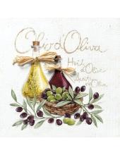 "Салфетка для декупажа HF13307000 ""Оливковое масло, оливки"", 33х33 см, Голландия"