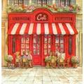 """Салфетка для декупажа HF13307580 """"Парижское кафе"""", 33х33 см, Германия"""