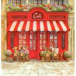 "Салфетка для декупажа HF13307580 ""Парижское кафе"", 33х33 см, Голландия"