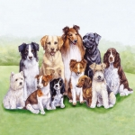 """Салфетка для декупажа HF13307875 """"Породистые собаки"""", 33х33 см, Голландия"""